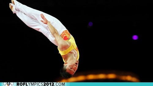 China,gold,London 2012,olympics,puns,trampoline