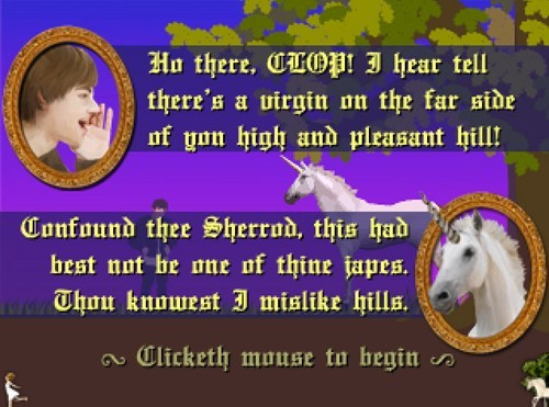 clop,QWOP,unciorns,unicorns