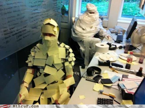 budget mummy,post-it notes,The Mummy,toilet paper