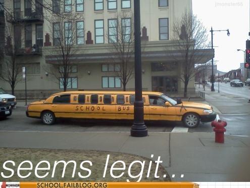 best schoolbus ever limo school bus seems legit - 6481119744