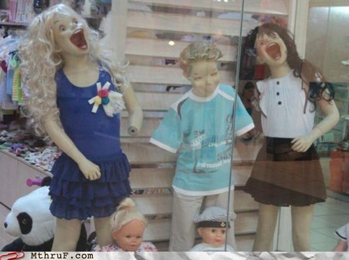 Mannequins,monday thru friday,satan,scary mannequins
