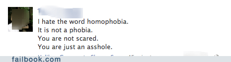 failbook gay homophobia LGBT scared - 6481148160