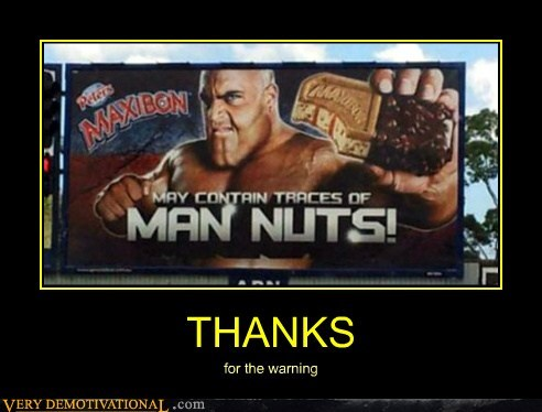 hilarious man nuts sign wtf