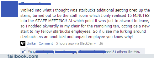 accident Awkward seating Starbucks