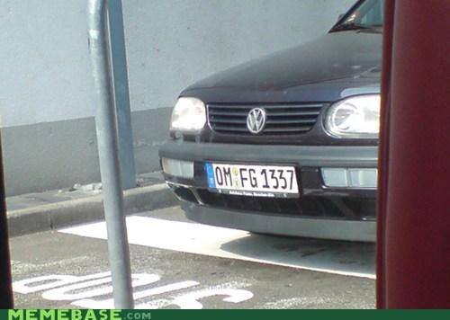 1337,license plate,Memes,omfg