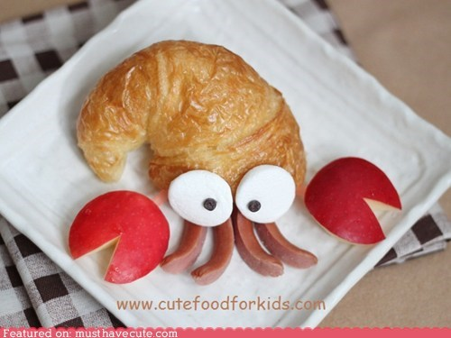 apple croissant epicute hermit crab hot dogs
