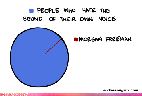 graphs,Morgan Freeman,pie charts,voices