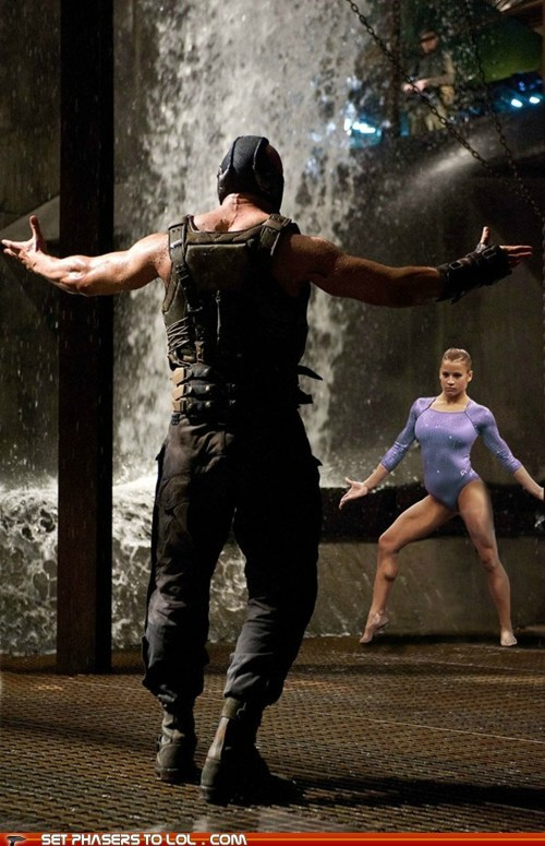 Alicia Sacramone,are you not entertained,bane,batman,gymnastics,London 2012,olympics,the dark knight rises,tom hardy