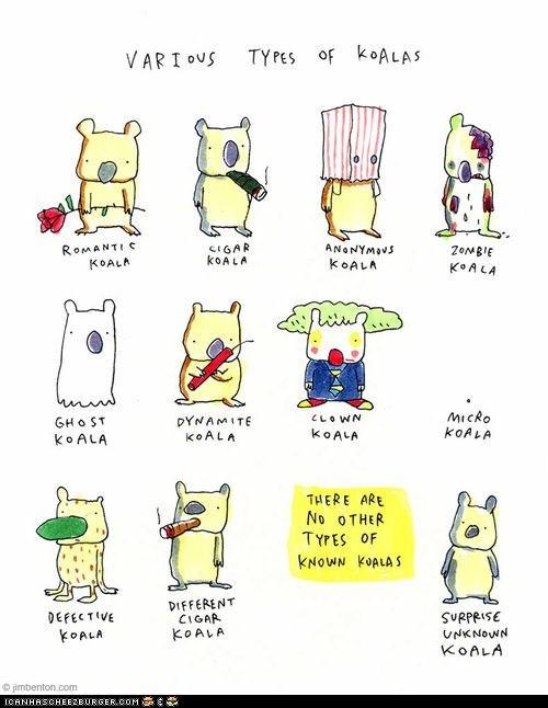 comics cute illustrations koala bears koalas silly types - 6481331712
