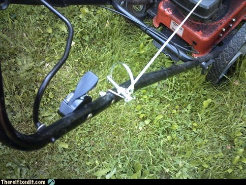 ignition lawn mower pin pull-handle