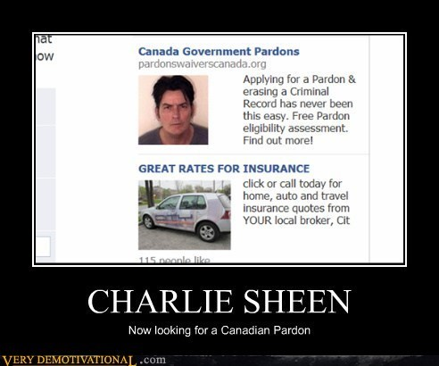 Canada Charlie Sheen hilarious pardon