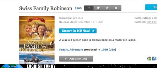 DVD,swiss family robinson