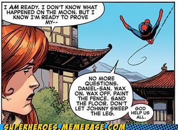 mr miyagi,Spider-Man,Straight off the,Straight off the Page