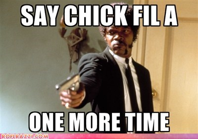 chicken,chik fil-a,gay marriage,gay rights,One More Time,pulp fiction,Samuel L Jackson