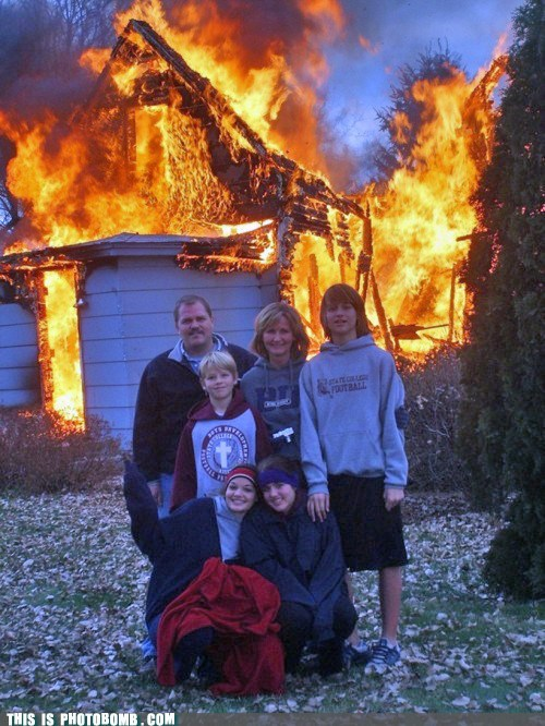 cheese family photo family portrait fire wtf - 6481596160