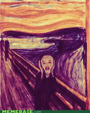 art,derp,ermagehrd,The Scream