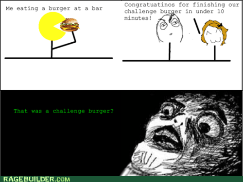 challenge burger noms Rage Comics raisin face - 6481711360