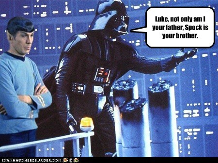 brother,darth vader,i am your father,Leonard Nimoy,Spock,Star Trek,star wars