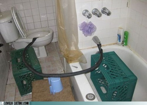 bathroom bathtub DIY hose reroute toilet - 6481746432