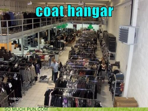 coat,double meaning,hangar,hanger,homophone,similar sounding
