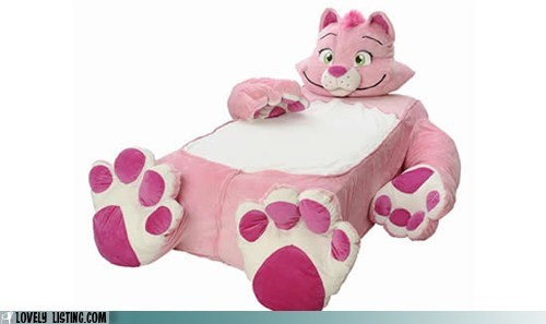 bed cat creepy nightmares pink scary - 6481798656