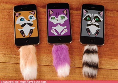 accessory animals cell phone fuzzy iphone tail - 6481805824
