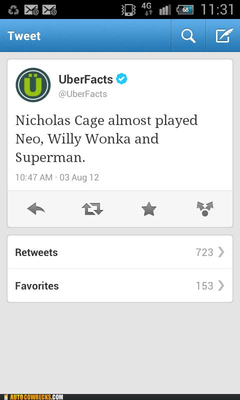 neo nicolas cage superman Willy Wonka