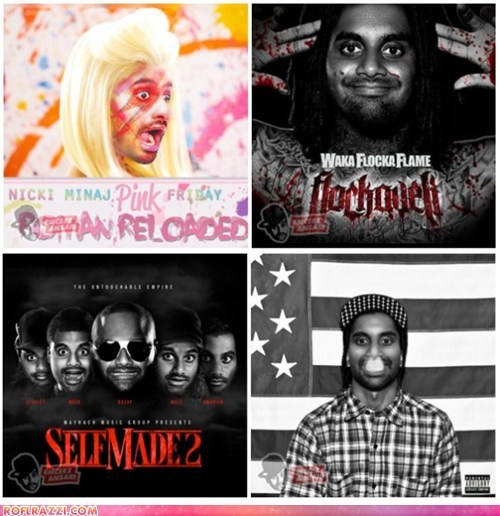 albums aziz ansari Music nicki minaj photoshopped rap rappers Waka Flocka Flame - 6482126592