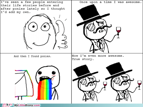 awesome,life story,ponies,rage comic,Rage Comics