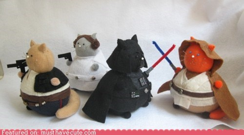 Cats felt pincushion pincushions products star wars