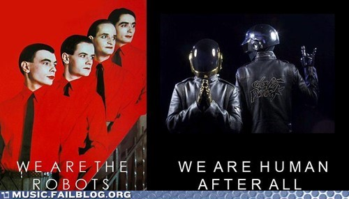 daft punk,human after all,kraftwerk,robots