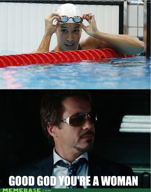 iron man,London 2012,Memes,olympics,swimmers,woman