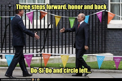 david cameron square dance steps vladerday Vladimir Putin