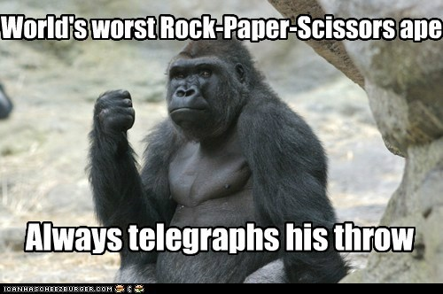 always,gorilla,rock,rock paper scissors,telegraph