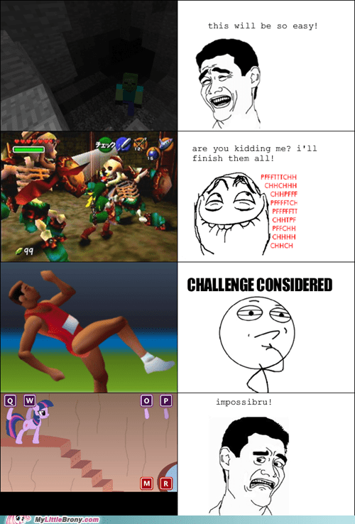 game,QWOP,rage comic,Rage Comics,twilight sparkle