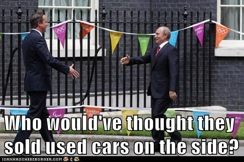 david cameron,political pictures,used cars,Vladimir Putin