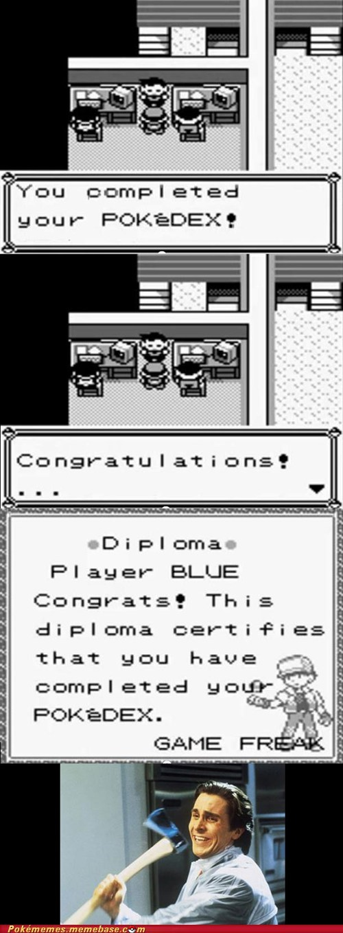 congratulations,Game Freak,gameplay,pokedex,reward