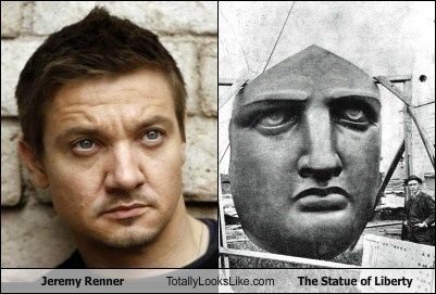 actor funny Jeremy renner Statue of Liberty TLL