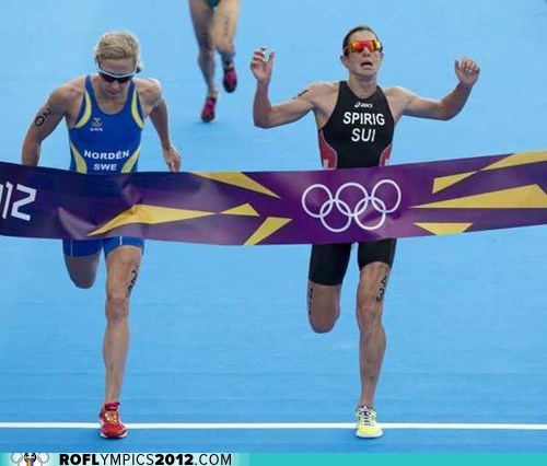 australia finish gold history London 2012 olympics Sweden Switzerland triathlon