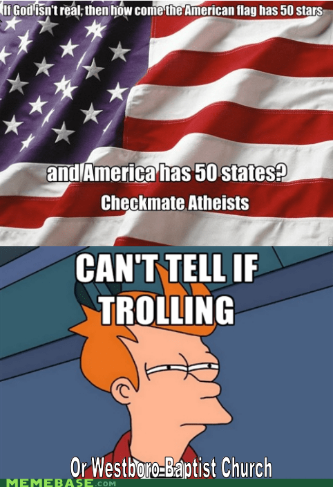 atheism,fry,god,trolling,Westboro Baptist Church