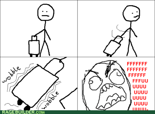 fu guy,Rage Comics,suitcase,wobble