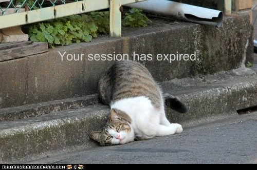 Your session has expired.