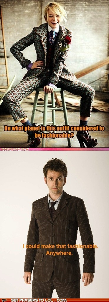 Challenge Accepted David Tennant doctor who emma stone fashion response the doctor - 6484509184