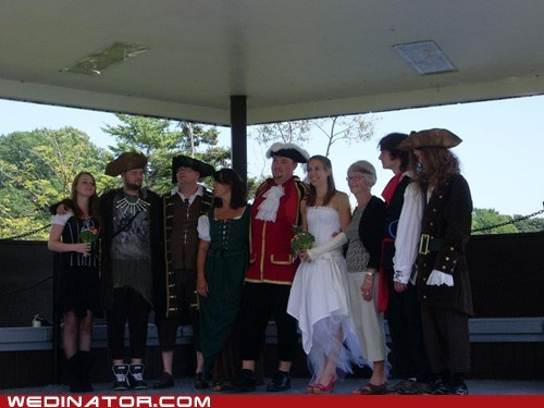 broccoli costume Pirate wedding - 6484552448