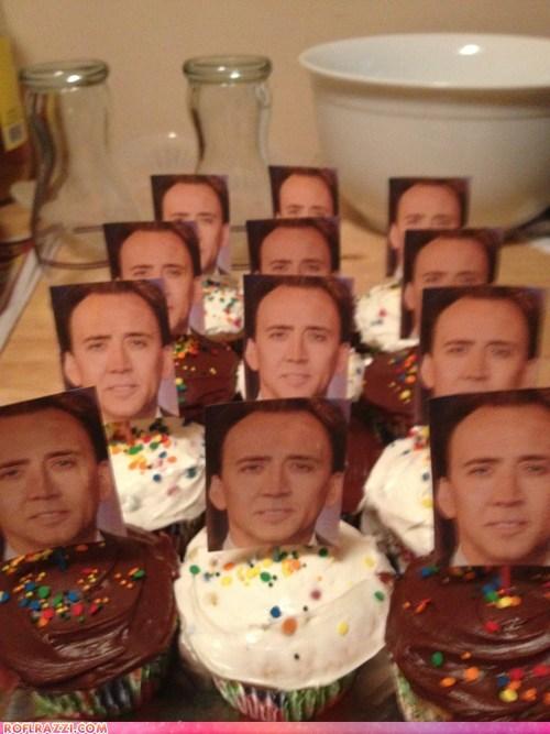 actor celeb cupcake food funny nic cage nicolas cage - 6484634368