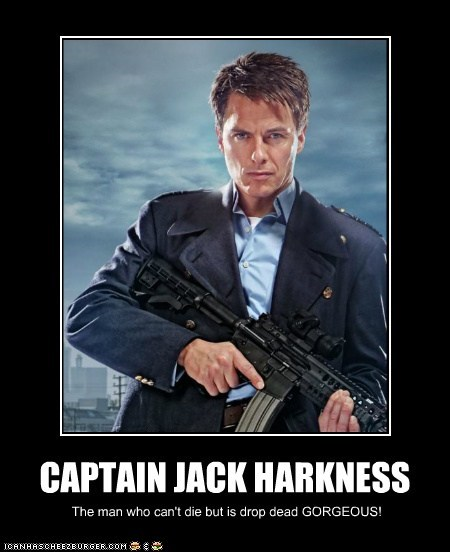 CAPTAIN JACK HARKNESS The man who can't die but is drop dead GORGEOUS!