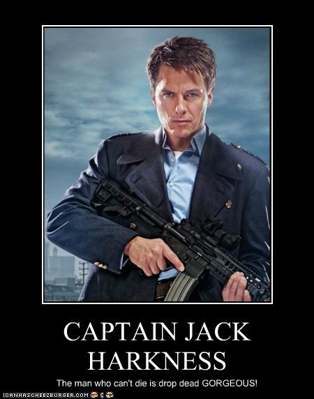 CAPTAIN JACK HARKNESS The man who can't die is drop dead GORGEOUS!