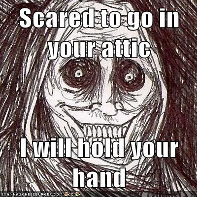 Scared to go in your attic I will hold your hand