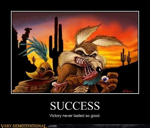 hilarious success victory wile e coyote - 6485626368