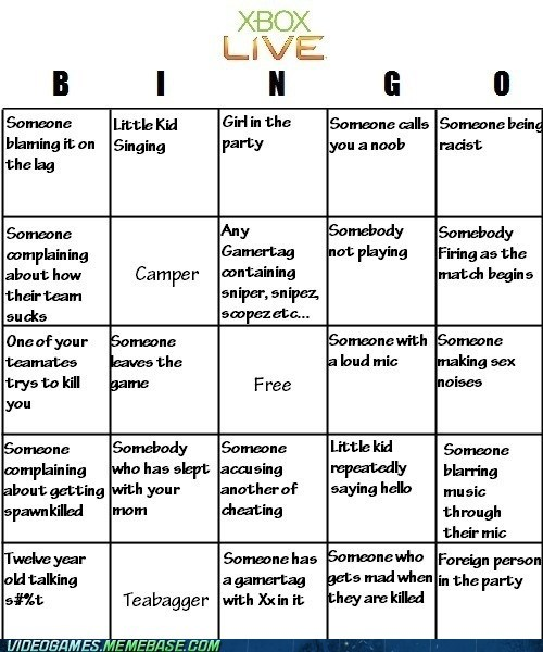 annoying best of week bingo noobs online gaming the internets xbl xbox live - 6485823232